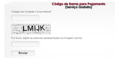 Local para informar os dados e ter acesso a 2 via Eletrobras Rondônia