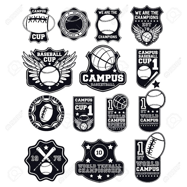 Collage Badges Stock Vector