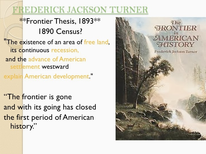 turners frontier thesis sparknotes Turner's frontier thesis is like all attempts to provide a general synthesis to explain a large region and period of time: it may or not be valid in a general sense, but specifics - the particular, which is often the stuff of historical analysis - can always be found to prove exceptions to the rule.