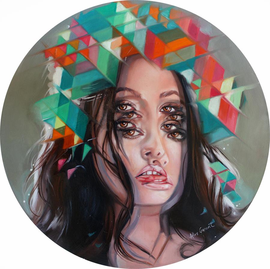 The Queen of Double Eyes | Kunst zum immer wieder hingucken von Alex Grant