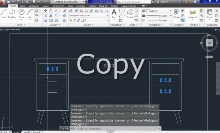 Move copy mirror autocad for Copy cad