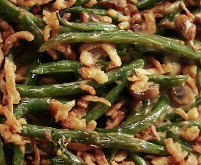 This is a Cheesy Green Bean Casserole Recipe- picture