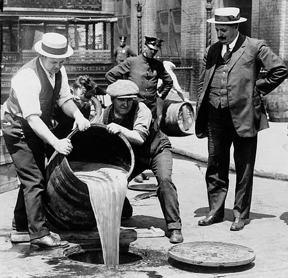 dumping alcohol during Prohibition