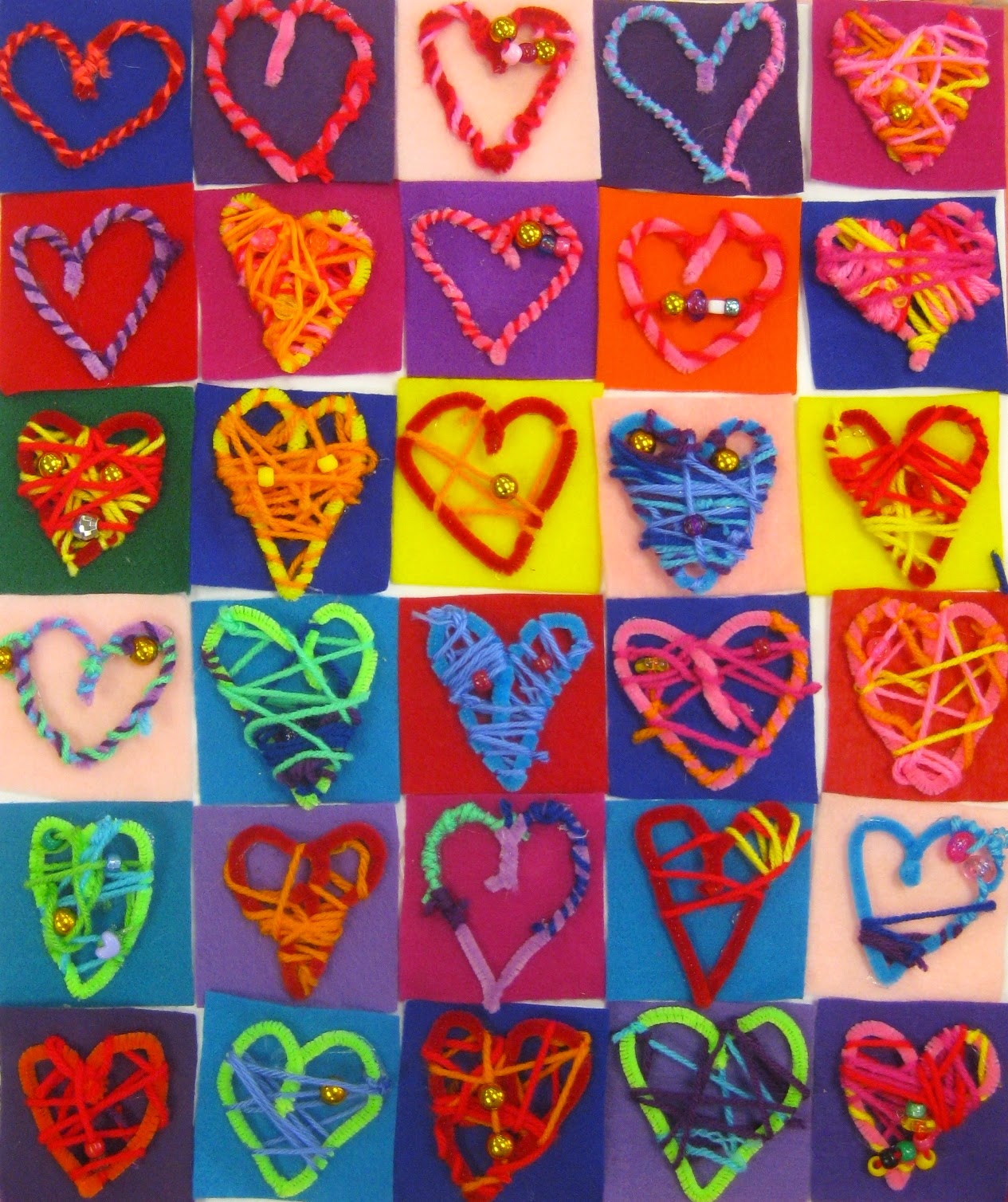 Fun and Easy Valentine's Day KIDS Crafts – Simple Pink ... |Heart Art Projects