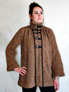 Mandarin Inspired Knitted Jacket with Hand Sewn Welts
