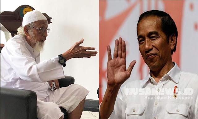 Ba'asyir Bebas Bukan Prestasi Jokowi