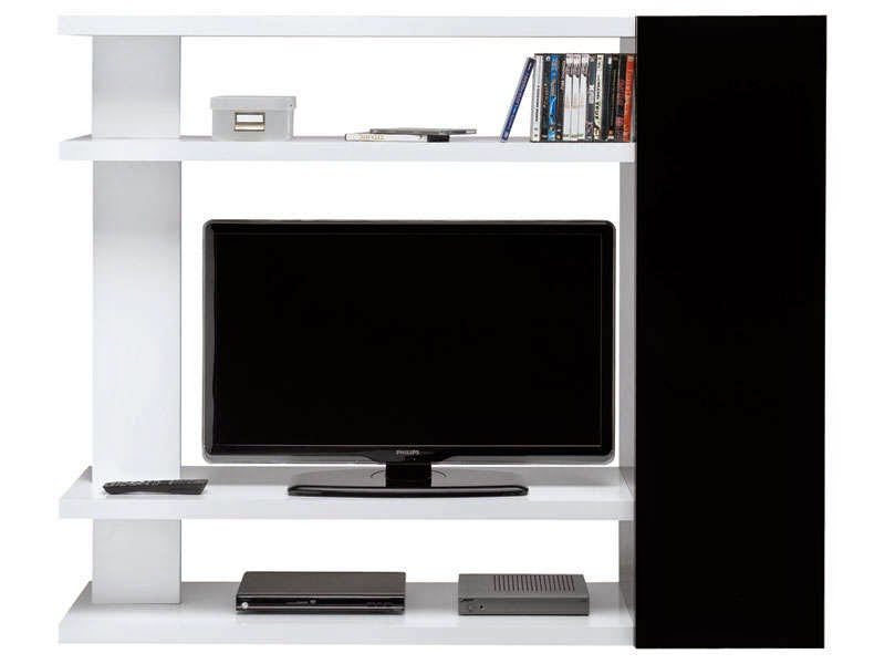 meuble tv avec rangement chambre. Black Bedroom Furniture Sets. Home Design Ideas