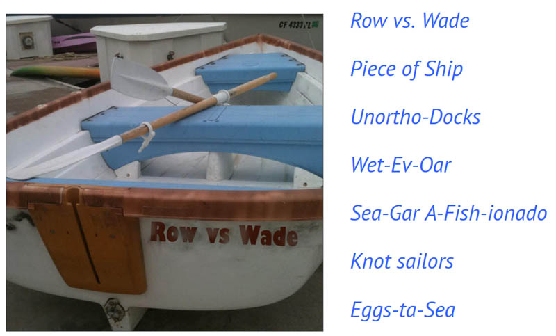 Captain Curran's sailing blog: The funniest boat names for