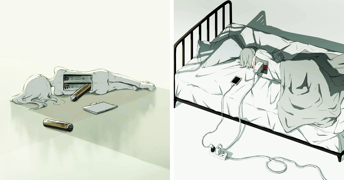 35 Thought-Provoking Illustrations By Japanese Artist That Reveal The Truth About The World
