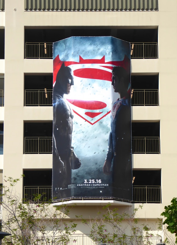 Batman v Superman film billboard