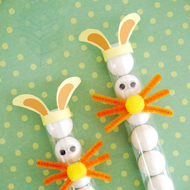 DIY Easter Bunny Treat Tubes for Kids