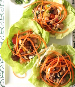 asian lettuce cups recipe by seasonwithspice.com