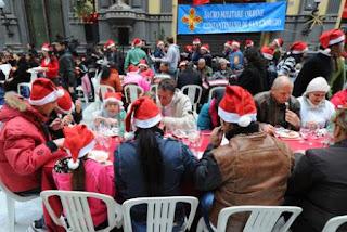 Oggi il pranzo di Natale nella Galleria Principe di Napoli