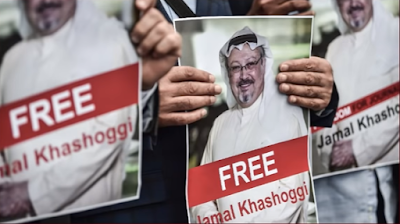 People demanding freedom of Jamal Khashoggi