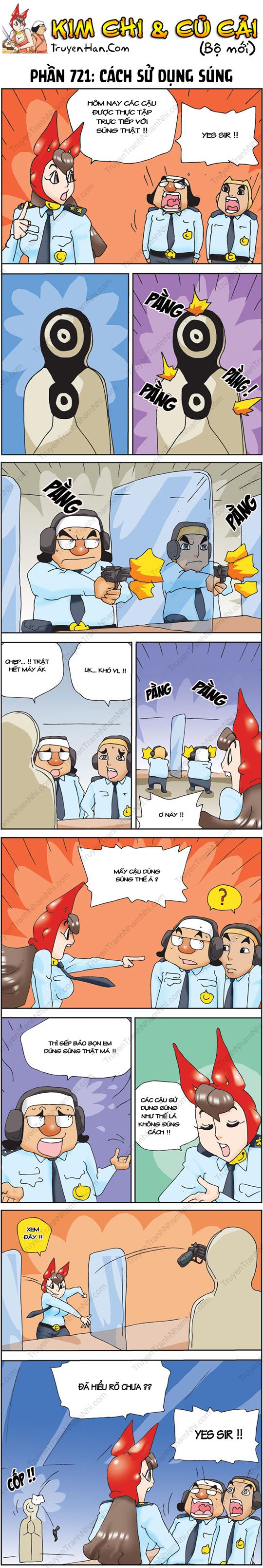 Kim Chi Và Củ Cải Phần 721: Cách sử dụng súng