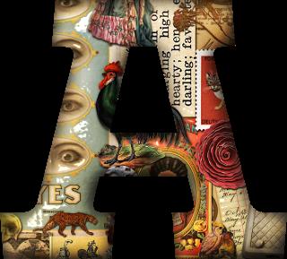 Abecedario Hecho con Revistas Viejas.  Alphabet Made with Old Magazines.