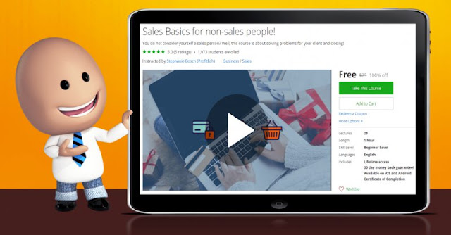 [100% Off] Sales Basics for non-sales people!|Worth 25$