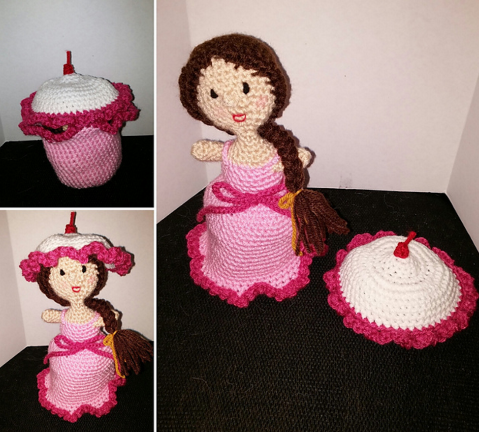 Sweet Nothings Crochet My Spanish Orange Blossom Cupcake Doll