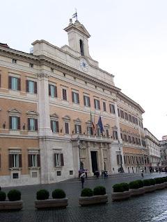 The Palazzo Montecitorio in Rome