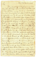 Letter; Blanchard to Bartlett; April 12, 1784; first page