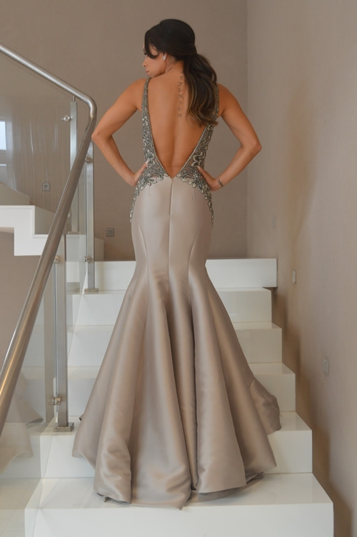 vestido de festa fendi