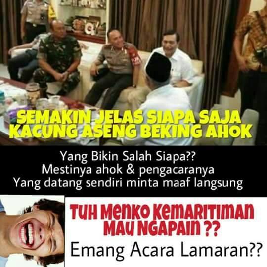 Kok Aneh Ya !! Ahok Yang Buat Onar, Menteri Kelautan Pun Turun Kedaratan di Temani Kapolda yang mendatangi Rumah KH Makruf Amin?