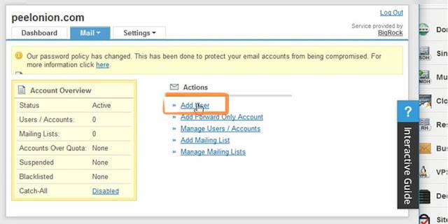 Bigrock email adduser