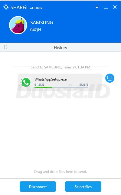 Proses Mengirim File