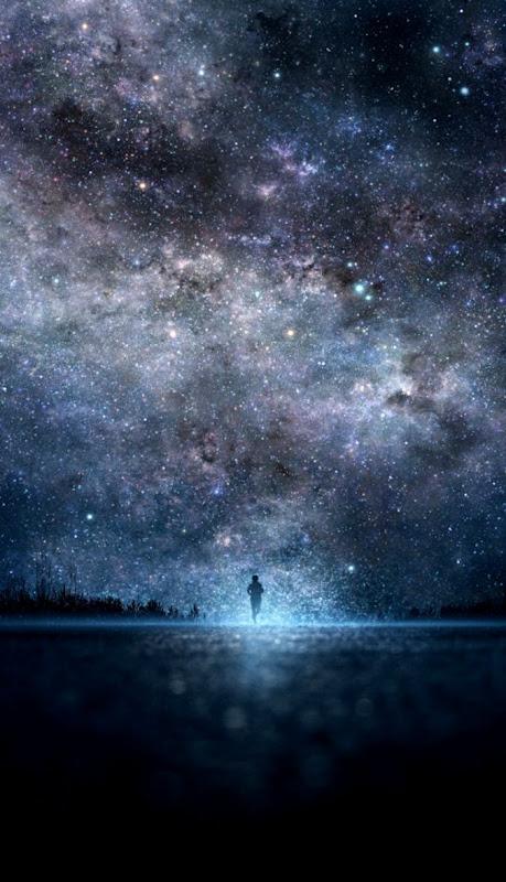 star art sky night people galaxy s3 space wallpaper