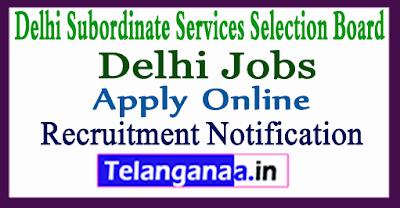 DSSSB Delhi Subordinate Services Selection Board Recruitment Notification
