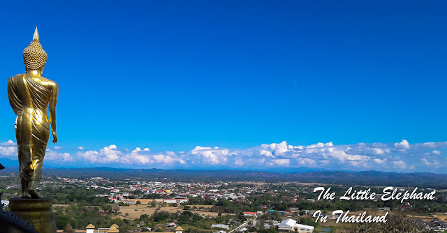 View over Nan town seen from the Wat Khao Noi
