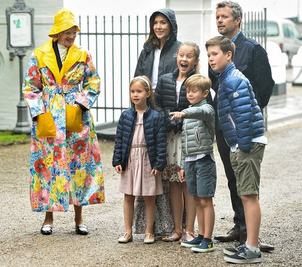 Crown Prince Frederik, Crown Princess Mary, Prince Vincent, Princess Josephine, Prince Christian and Princess Isabella