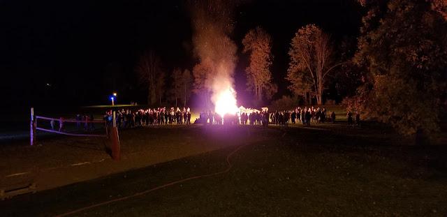 Humans burning things