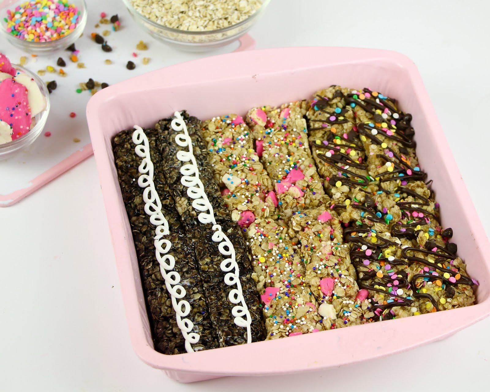 Video No Bake Dessert Granola Bars Hostess Cupcake Circus Animal Cookie Birthday Cake Flavored The Lindsay Ann
