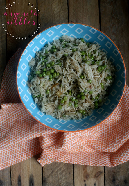An easy and flavourful rice dish perfect for serving alongside curries, naturally gluten free, dairy free and vegan friendly!