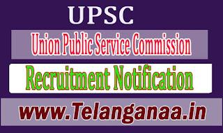 UPSC Union Public Service Commission Recruitment Notification