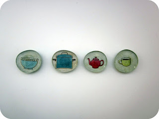 kid crafts holiday gifts glass magnets