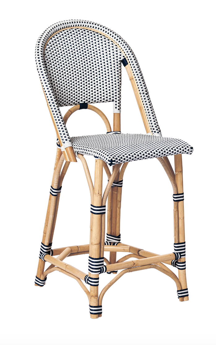 French style cafe wicker bistro chairs