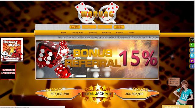 WarungQQ Situs Domino QQ, Agen BandarQ, Bandar Poker Online
