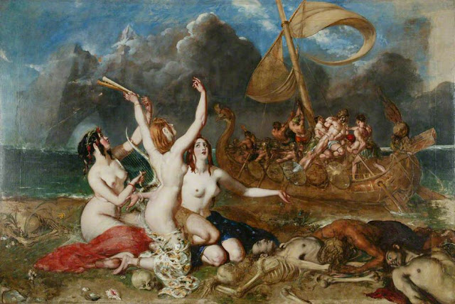 The Sirens of Ulysses William Etty 1837