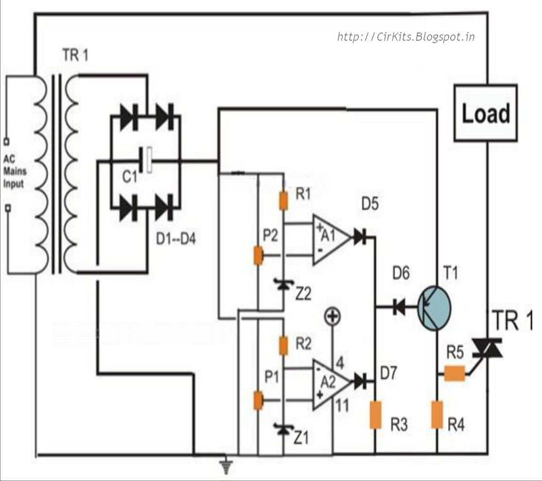 Highly Accurate Mains High Low Voltage Cut Circuit