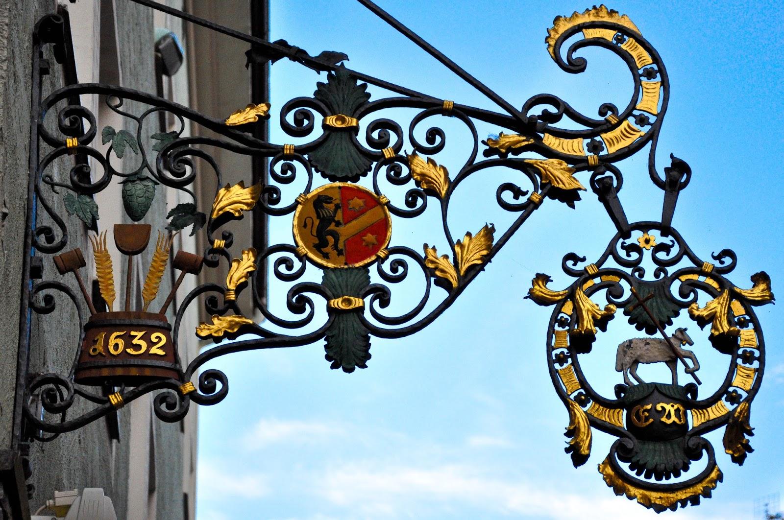 Shop Sign, Kaufbeuren, Bavaria, Germany