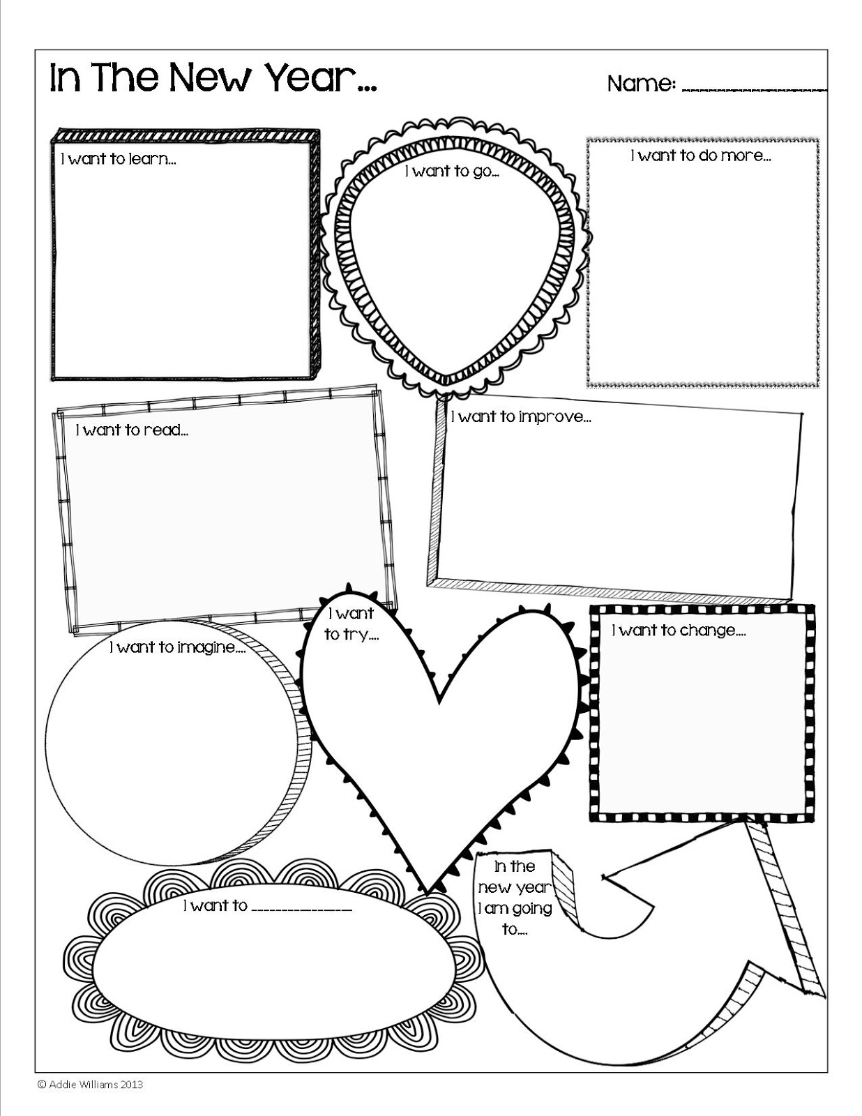 New year writing activities for students