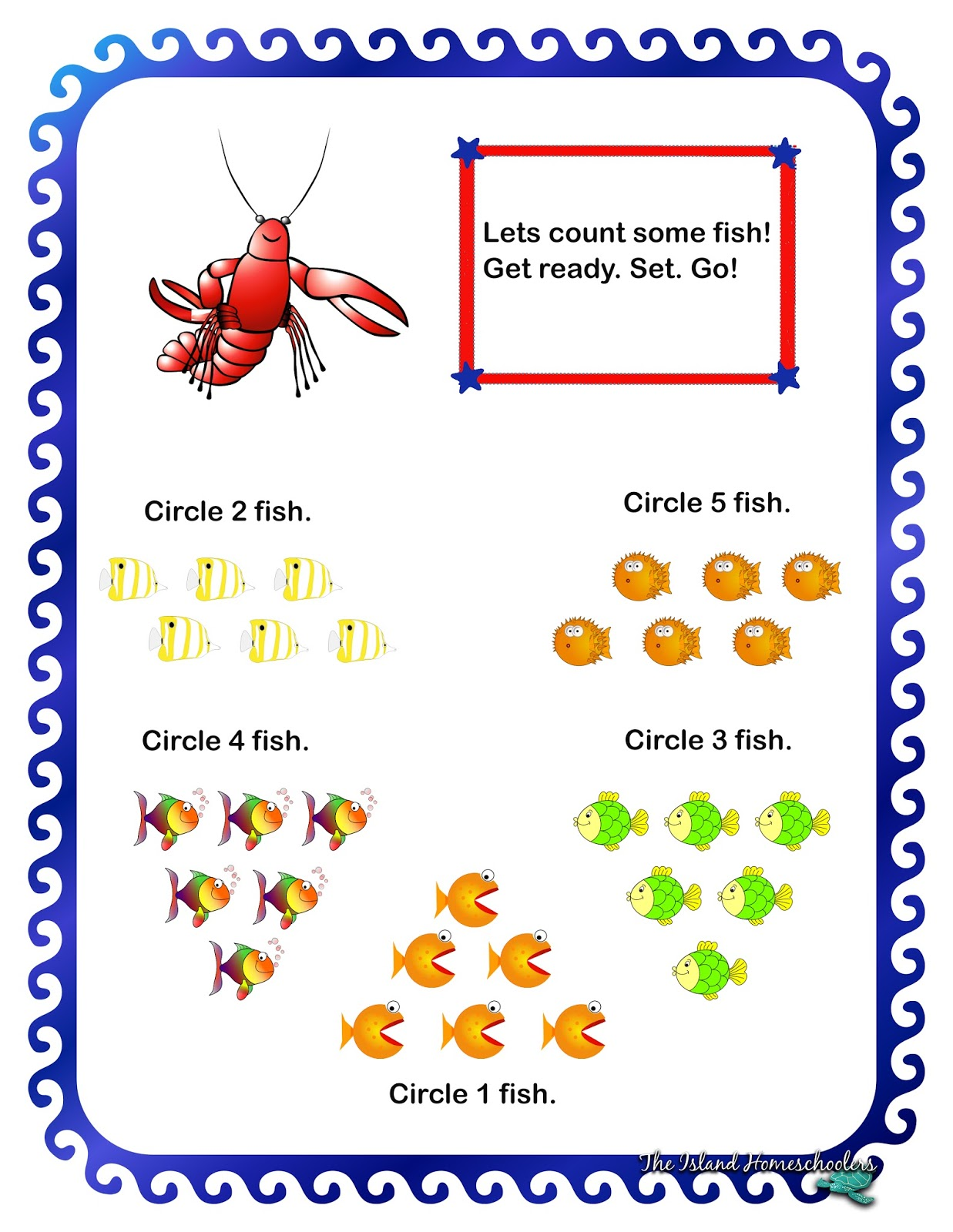 The Island Homeschoolers – Math Worksheet Island