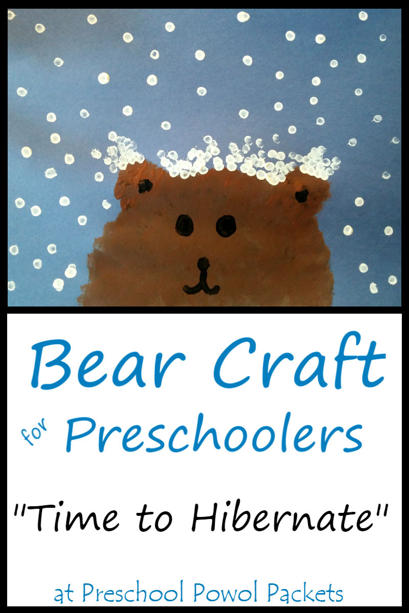 Bear craft for preschoolers time to hibernate preschool for Hibernation crafts for preschool