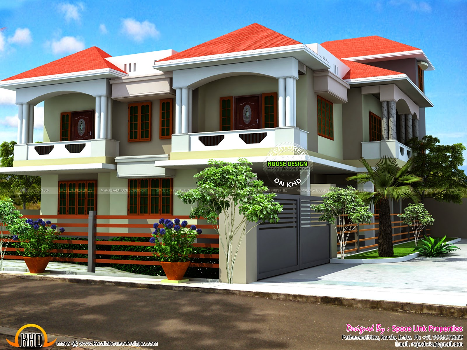 May 2015 kerala home design and floor plans for Beautiful 5 bedroom house plans with pictures