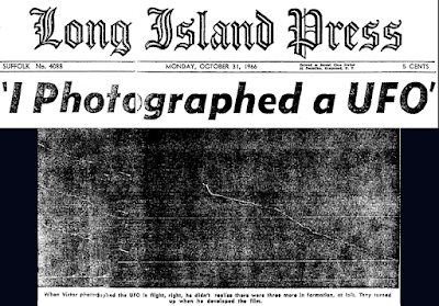 I Photographed a UFO (Heading) - Long Island Press 10-31-1966