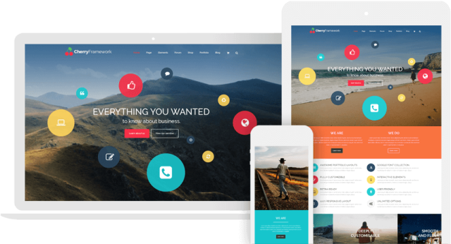 Cherry Framework - free wordpress website template provided by TemplateMonster
