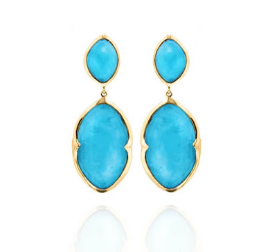Missoma - Double Drop Turquoise Earrings - One Simple Gemstone to Transport you on Holiday