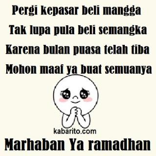 Gambar Kata Pantun Bulan Puasa Ramadhan